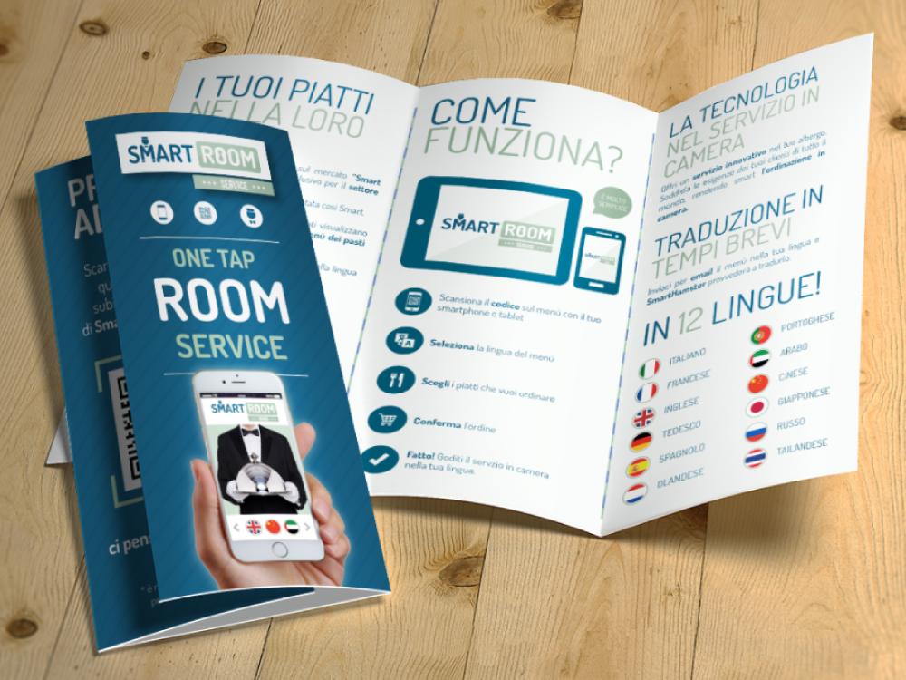realizzazione grafica brochure smart room