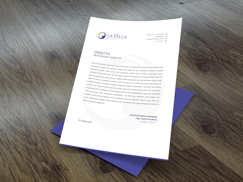 Realizzazione Carta Intestata Firenze La Villa