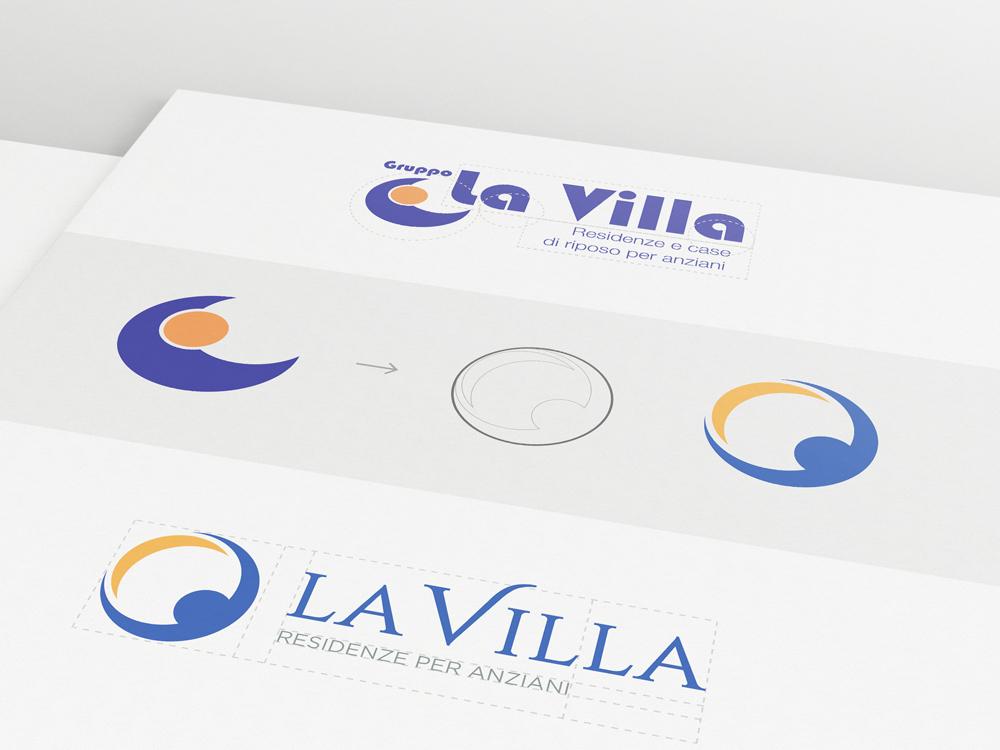 Mockup Grafico Logo Aziendale La Villa spa
