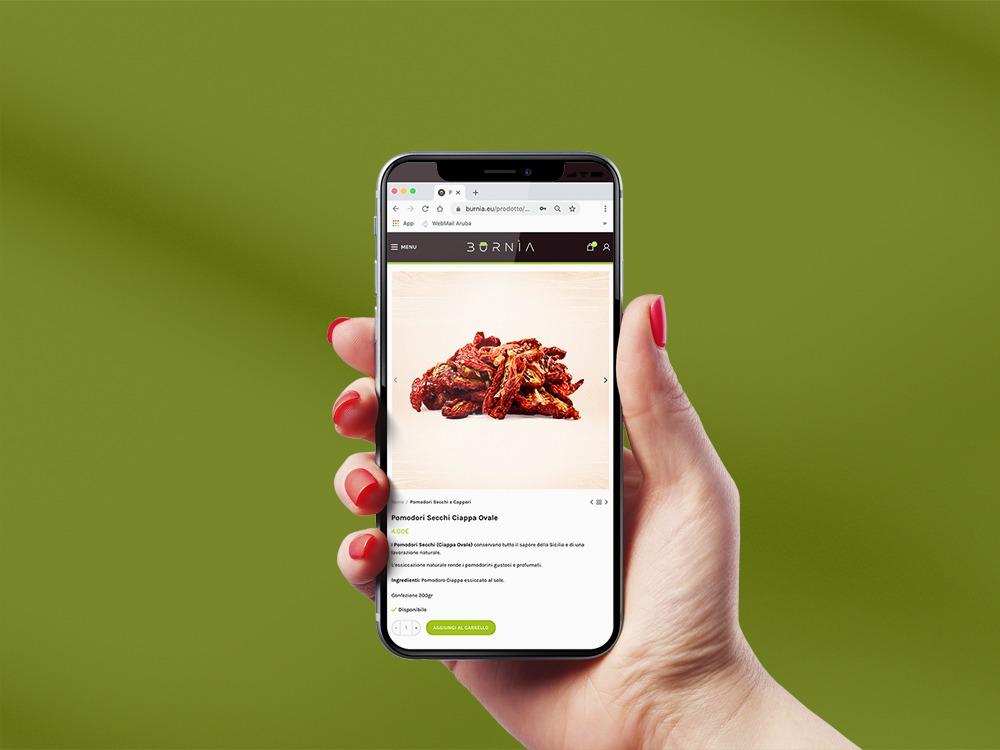 sito ecommerce burnia responsive desgin